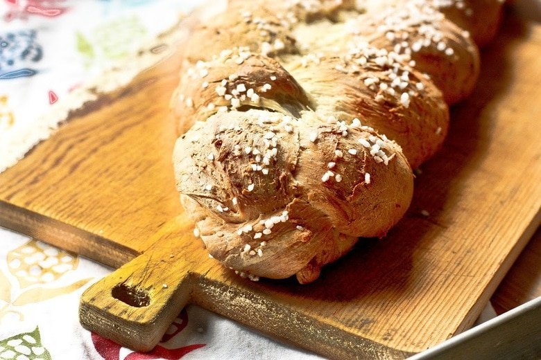 A traditional recipe for Pulla- a Finnish Style Cardamon Bread that tastes and smells heavenly. Perfect for mornings or afternoon tea.   www.feastingathome.com