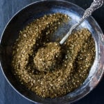 Za'atar Spice Recipe, a flavorful Middle Eastern spice blend that can be used in a multitude of ways. | #zaatar #za'atar #spices #|spiceblend www.feastingathome.com
