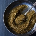 A simple recipe for Za'atar, a flavorful Middle Eastern spice blend that can be used in a multitude of ways. | #zaatar #za'atar #spices #|spiceblend www.feastingathome.com