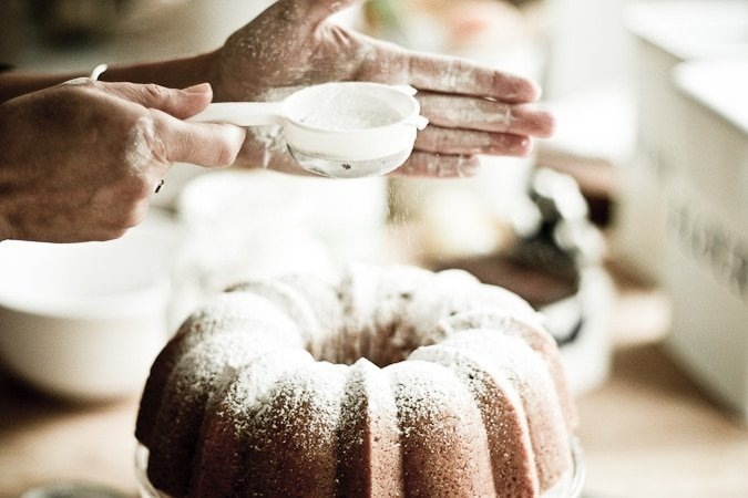 Vegan Meyer Lemon Coconut Bundt Cake...SO easy and delicious! Make this in one bowl, and pour | www.feastingathome.com