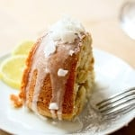 Vegan meyer lemon coconut cake | www.feastingathome.com
