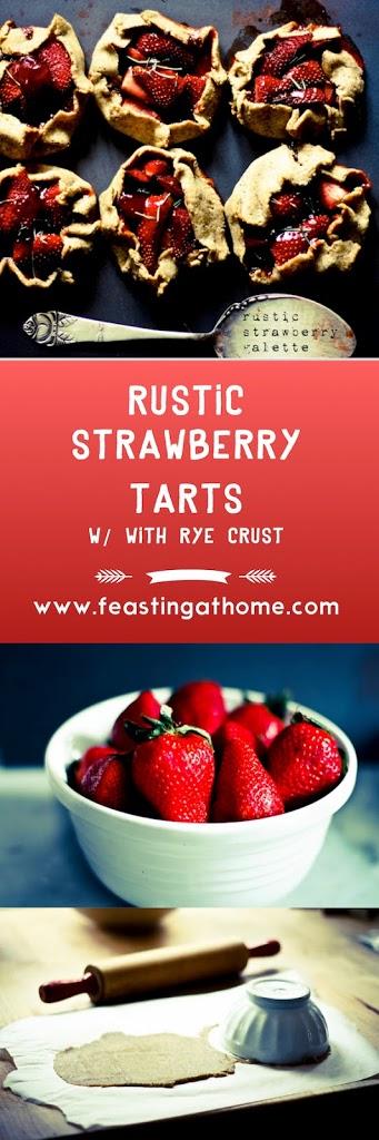 Rustic Strawberry Tart with Seeded Rye Crust   www.feastingathome.com
