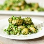 Spring peas and fingerling potatoes w/ tarragon and mustard seed | www.feastingathome.com