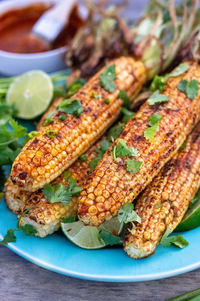 Grilled Corn on the Cob with Chipotle Lime Butter. #mexicancorn