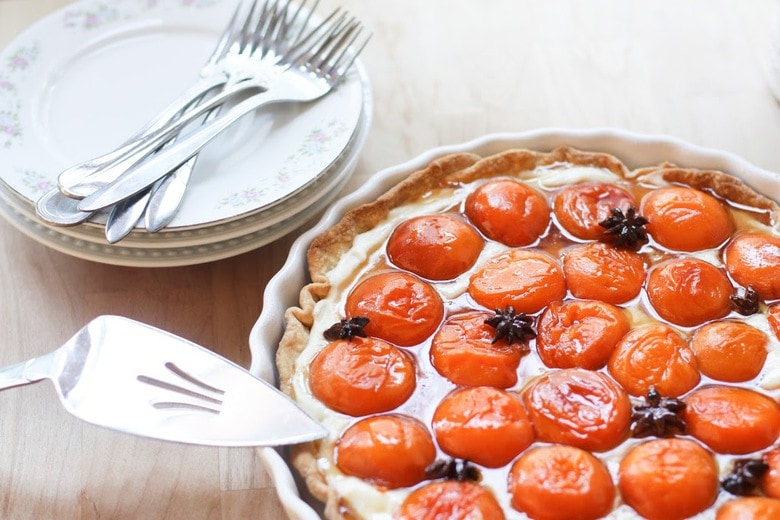 Honey Roasted Apricot Tart with Mascarpone Cream and Star Anise ...