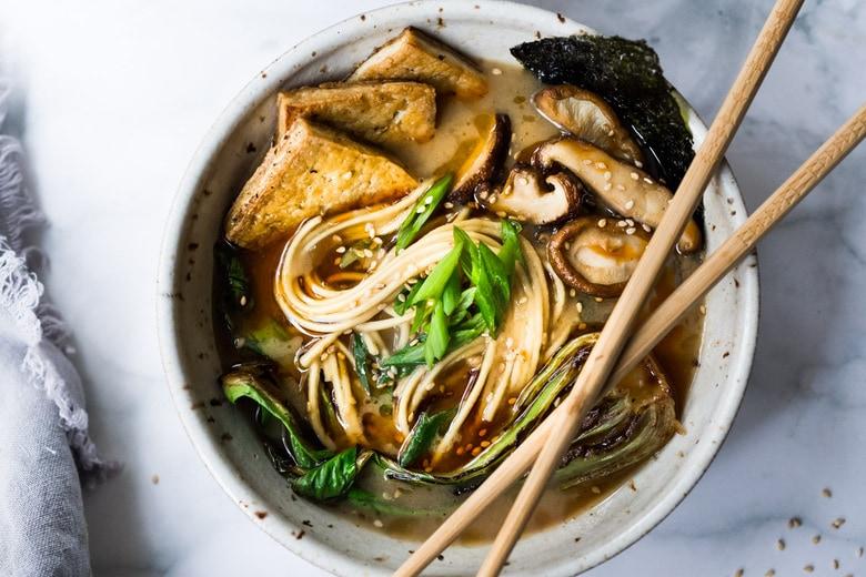 Vegan Ramen With Miso Shiitake Broth Feasting At Home
