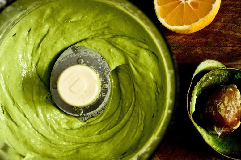 Creamy Avocado Sauce for a healthy quick vegan pasta!   www.feastingathome.com