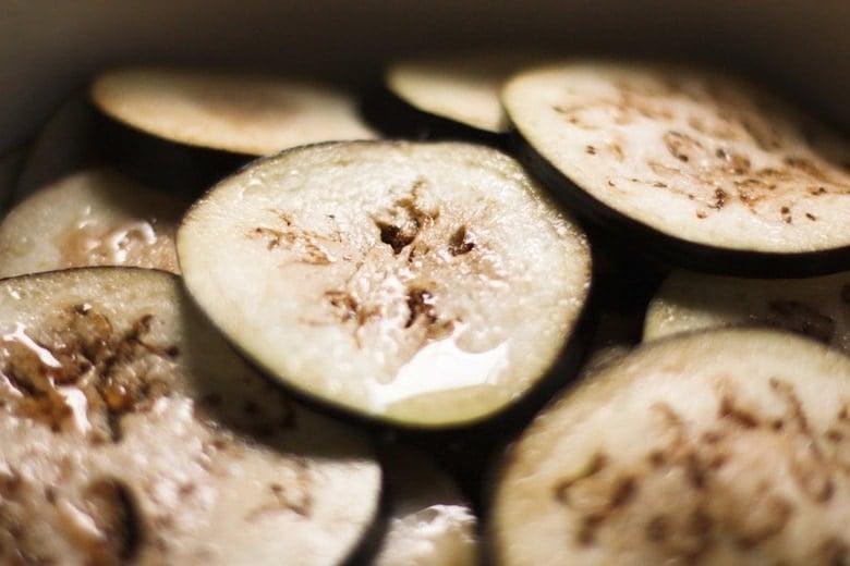 degorging eggplant