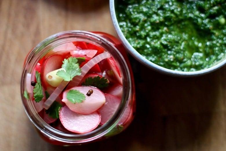 Pickled veggies in a jar