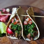 grilled steak tacos with chimichurri