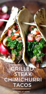 Steak tacos with Chimichurri
