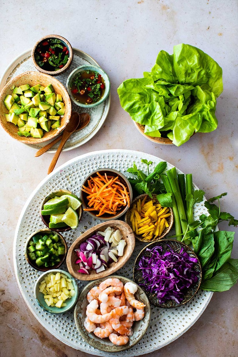Shrimp Lettuce Wraps Vietnamese Style Feasting At Home