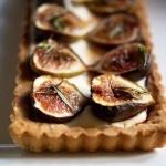 Roasted Fig Tart with mascarpone cream and roasted figs.