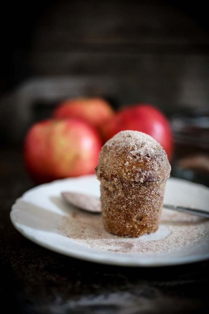 "Apple Brown Butter Bouchons ( also called "" donut muffins "") --these delicious guys are very easy to make and so delicious. Baked instead of fried they are healthier than donuts. 