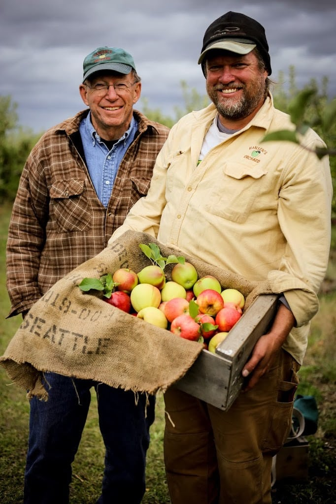 Rod and Derrick Hansen of Hansen's Green Bluff Orchard