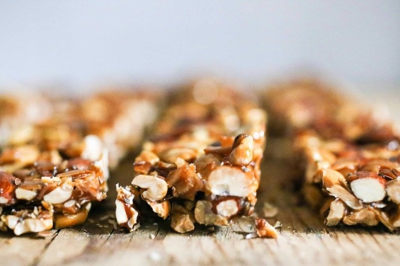 "Delcious, healthy, Coconut Almond Bars, similar to ""Kind Bars""! A gluten-free, paleo, grain-free, granola bar recipe that you will fall in love with! #granolabars #paleo"
