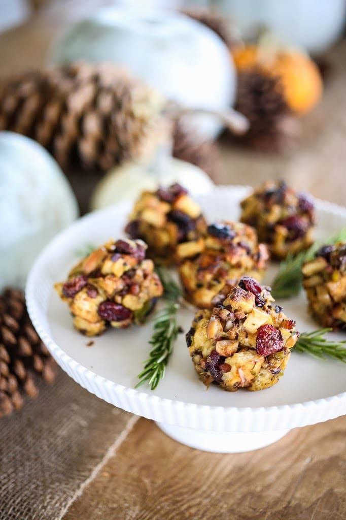 Thanksgiving Stuffing Muffins | www.feastingathome.com