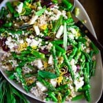 20 Delicious Asparagus Recipes! Spring Asparagus Salad with olives, lemon and couscous.
