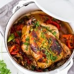 Cuban Chicken with Chili Roasted Yams | www.feastingathome.com