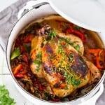 Cuban Chicken with Chili Roasted Yams | www.feastingathome.com