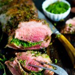 Herb Crusted Leg of Lamb with Mint Gremolata | www.feastingathome.com