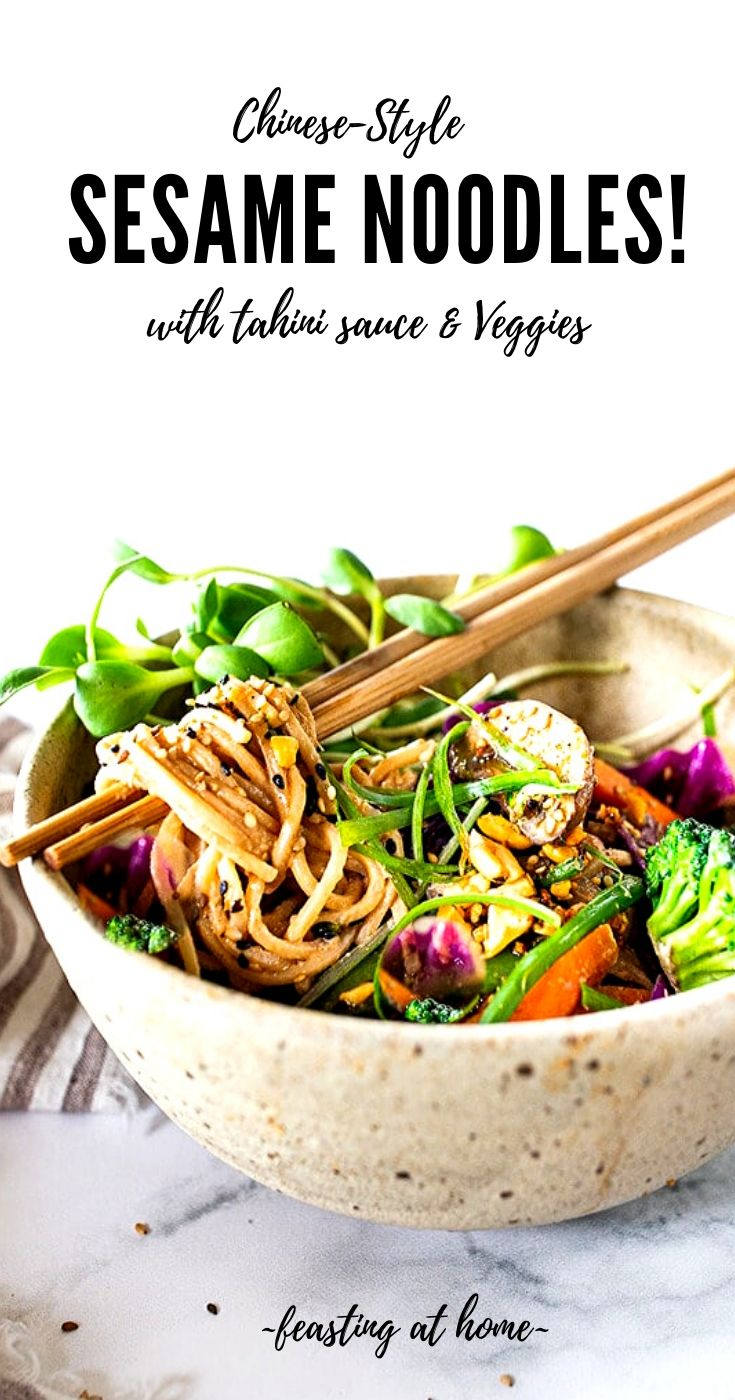 Chinese Sesame Noodles with Veggies!