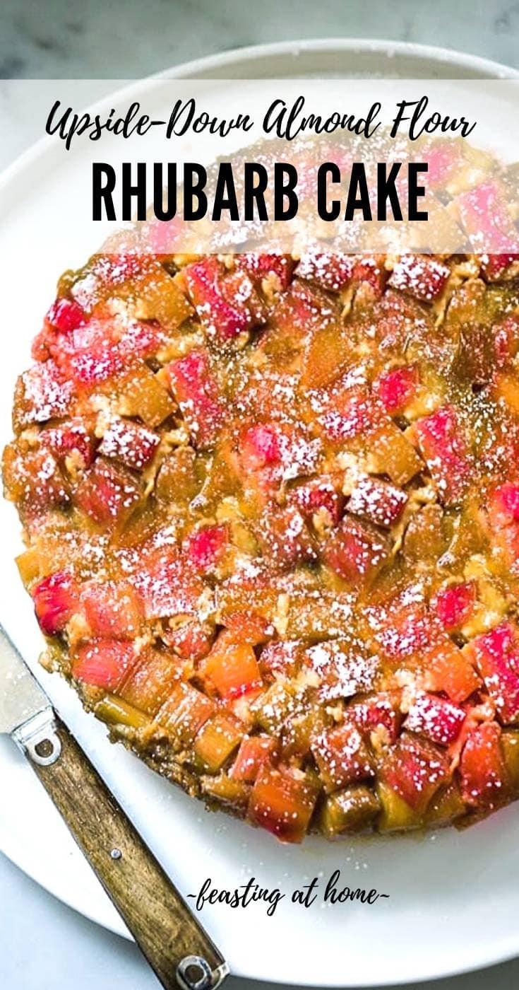 Upside Down Rhubarb Cake (Gluten-free)