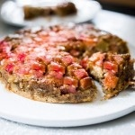 Upside Down Rhubarb Cake (Gluten-free) | www.feastingathome.com