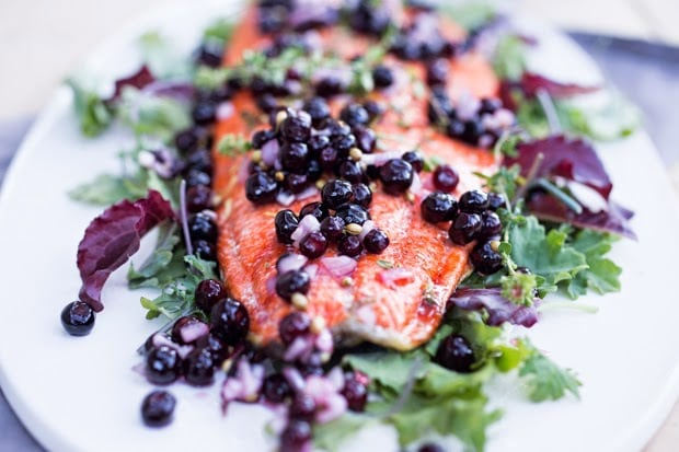 grilled salmon with huckleberry shallot relish feasting at home