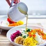 Sunshine Bowl w/ Sunflower Seed Tahini Sauce | www.feastingathome.com