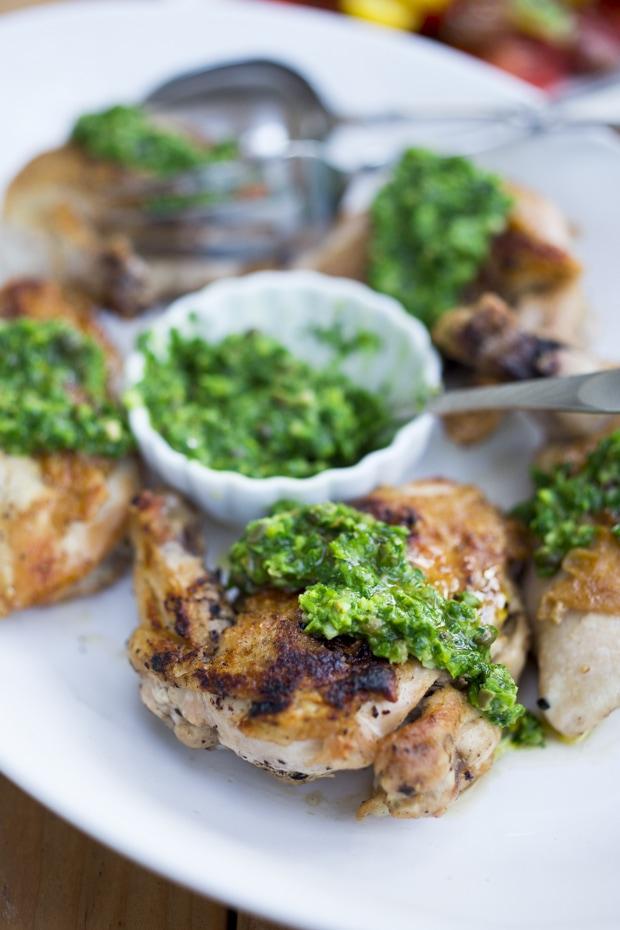 Italian Style Salsa Verde Chicken | www.feastingathome.com