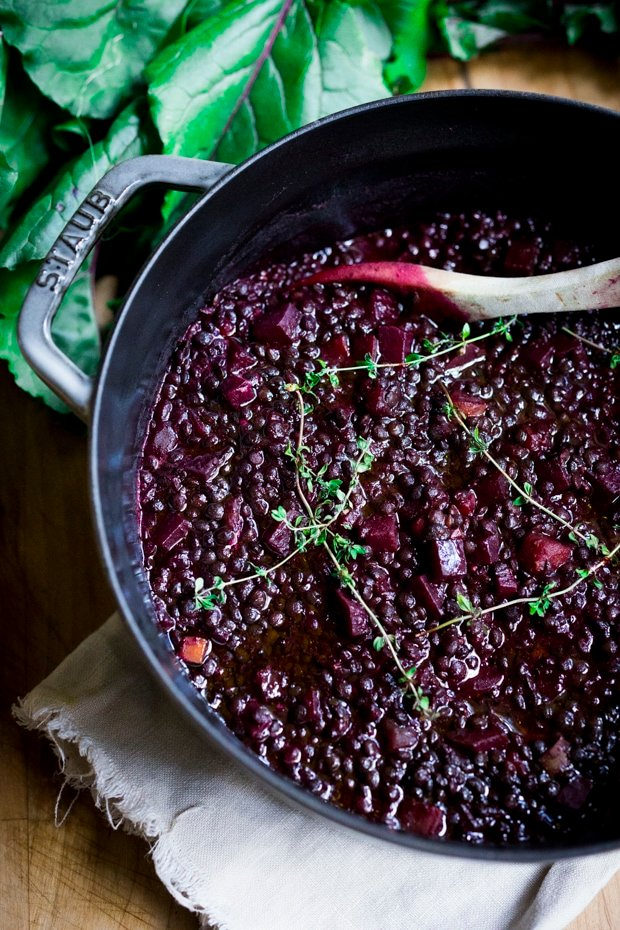25 BEST Lentil Recipes! | Beet braised lentils-comforting and delicious!