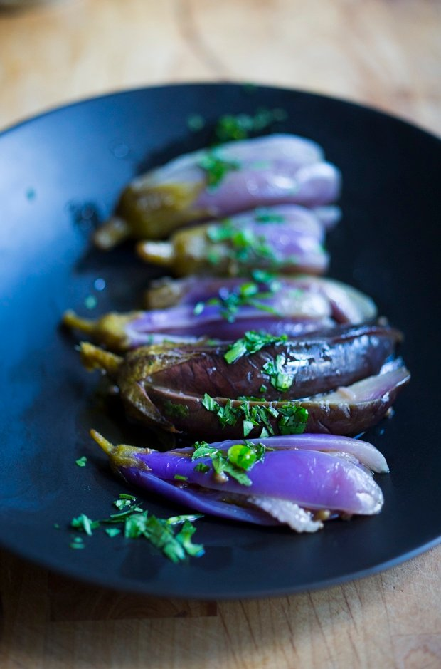 Moroccan Pickled Eggplant | www.feastingathome.com