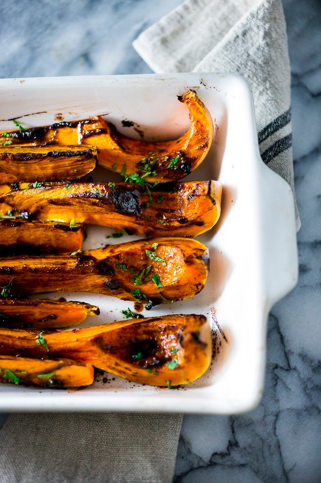 Roasted Butternut with Black Garlic and Miso | www.feastingathome.com