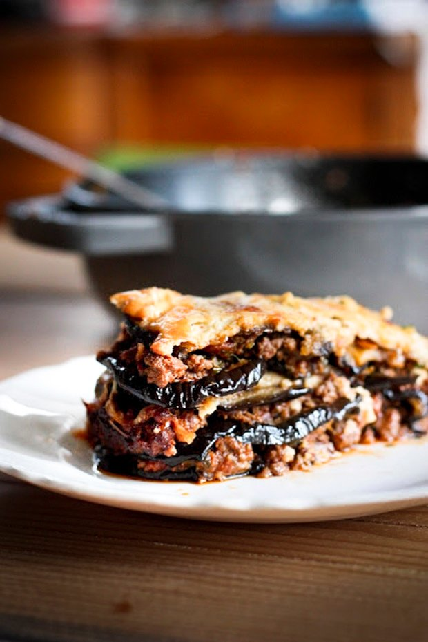 Rustic Eggplant Moussaka + 10 cozy, Rut-Busting Fall recipes to help inspire us to break us out of the habit of making the same old things this fall! | www.feastingathome.com
