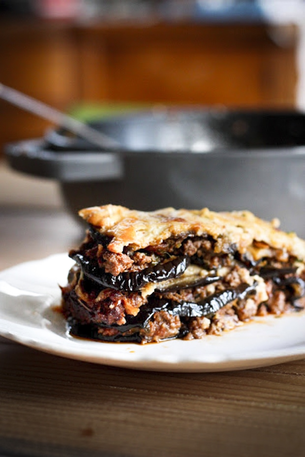 Rustic Eggplant Moussaka + 20 Comfort Food Recipes for Fall | #eggplantmoussaka #comfortfood #eggplantrecipes #fallrecipes