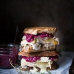 Leftover Turkey never tasted so good! Turkey Brie Grilled Cheese sandwich with a flavorful cranberry mustard.