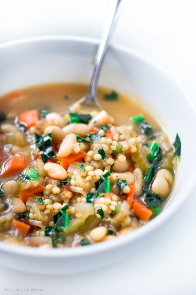 Tuscan Cannellini Bean Stew w/ Sorghum- an ancient GF grain. | www.feastingathome.com