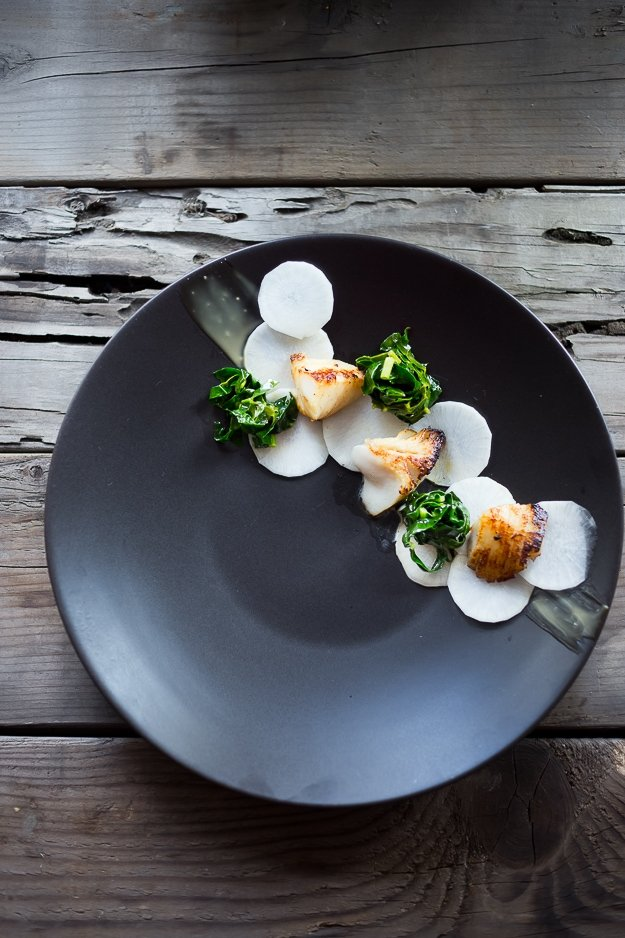 "This melt in your mouth, Black Cod Recipe is made with the most delicious miso marinade ever! Served up with pickled daikon, kale ""nests"" and miso aioli, a simple delicious recipe, perfect for entertaining! 