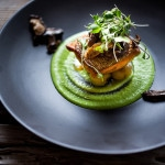 Seared Steelhead with Truffled Spring Pea Sauce ...an easy elegant dinner, perfect for Spring! | www.feastingathome.com