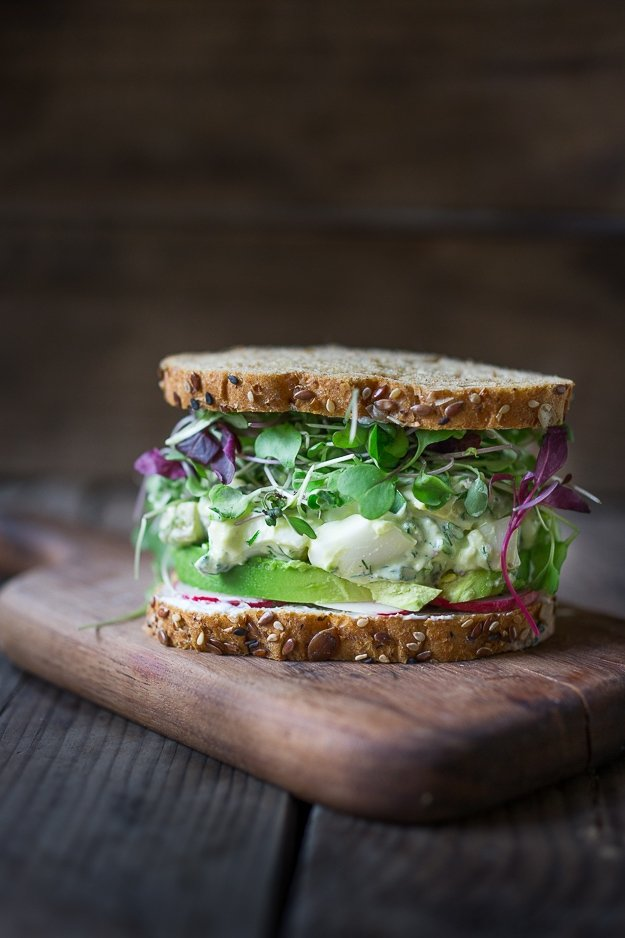 Green Goddess Egg Salad - One of 10 Fast and Healthy Lunches } www.feastingathome.com