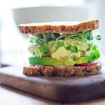 Green Goddess Egg Salad with Avocado- make this into a sandwich, a wrap or serve over a bed of greens for hearty low carb meal. Also tasty on bruschetta, served as and appetizer. #eggsalad #eggsaladsandwich | www.feastingathome.com #keto #lowcarb #healthylunch