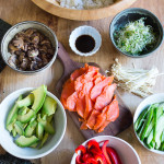 How to throw a Temaki Party, a simple affordable Japanese inspired crowd friendly meal! | www.feastingathome.com