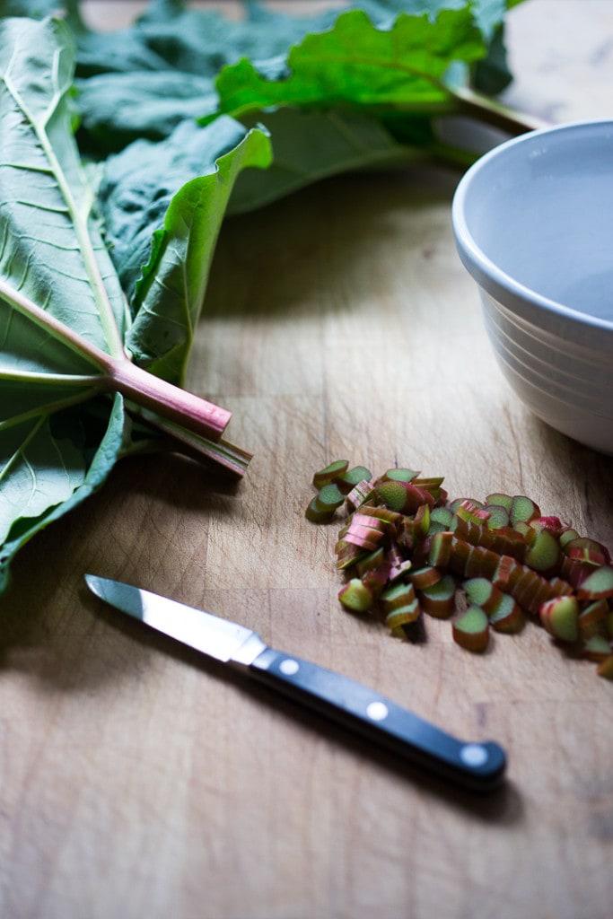 Fresh Rhubarb Pavlovas | www.feastingathome.com