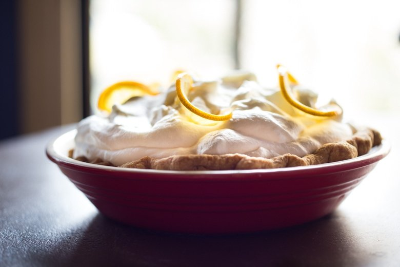 Lemon Cloud Pie...a refreshing and light dessert, perfect for warm summer nights! | www.feastingathome.com