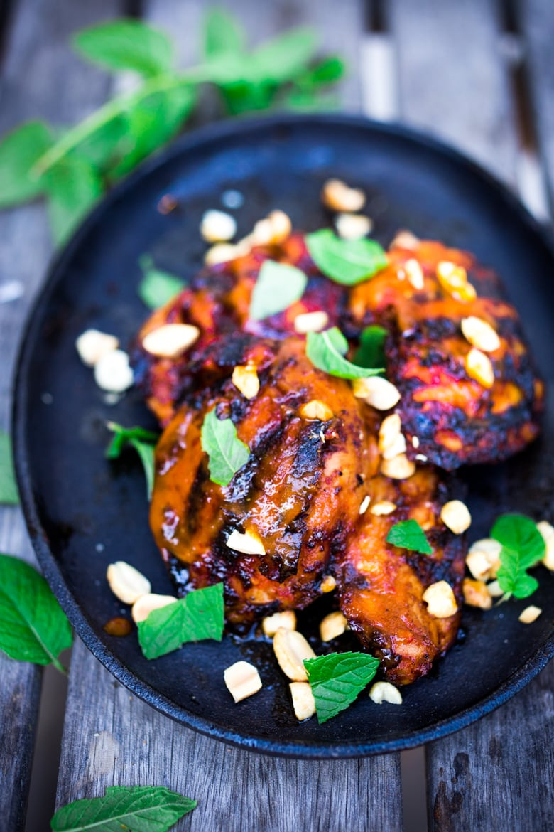 Indonesian Grilled Sambal Chicken Feasting At Home