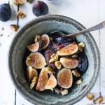15 Vegan Breakfasts! |Teff Porridge with fresh figs, maple and walnuts-- an easy, vegan protein packed breakfast! Gluten Free, Vegan! | #teff #porridge #veganbreakfast #healthybreakfast www.feastingathome.com
