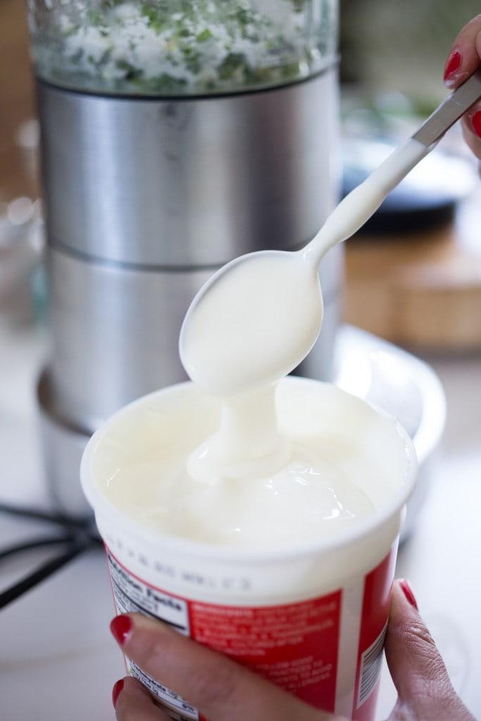 cilantro yogurt sauce-204
