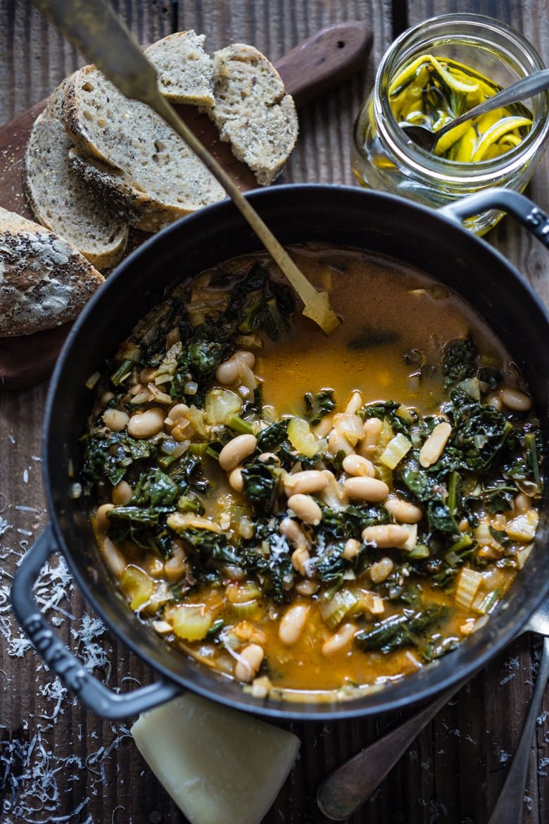 Ribollita - Tuscan White Bean Soup | Feasting At Home