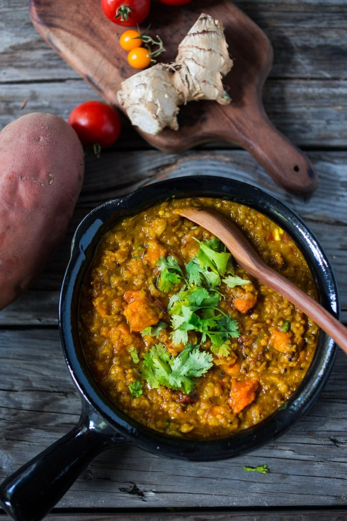 Lentil Dal With Sweet Potatoes